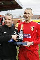 Nick Wright recieves his Player of the Month awared