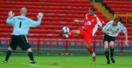 Nick Wright scores at Gateshead