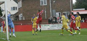 Wright heads the second goal home