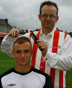 Nicholson gets a short back and sides