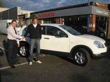 Neil Mackenzie collects new car from Polesworth Garage
